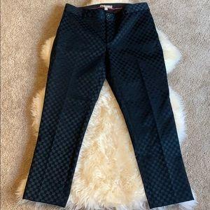 Banana Republic Women's Hampton Pant Blue Check, 8